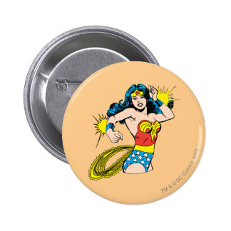Wonder Woman Twist with Glowing Cuffs 6 Cm Round Badge