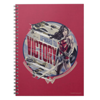 Wonder Woman Upward To Victory Spiral Notebook