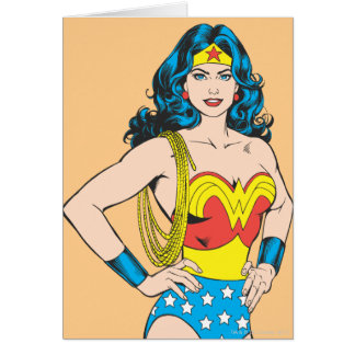 Wonder Woman | Vintage Pose with Lasso Card