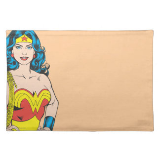 Wonder Woman | Vintage Pose with Lasso Placemat
