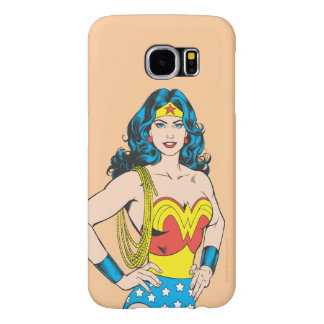 Wonder Woman | Vintage Pose with Lasso Samsung Galaxy S6 Cases