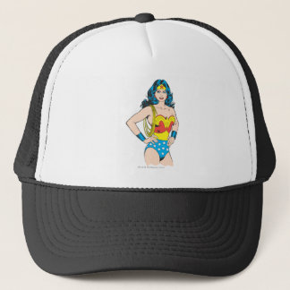 Wonder Woman | Vintage Pose with Lasso Trucker Hat