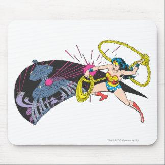Wonder Woman vs Robot Mousepads