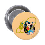 Wonder Woman with City Background 6 Cm Round Badge