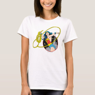 Wonder Woman with City Background T-Shirt