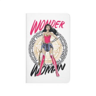 Wonder Woman With Greek Tribal Emblem Journals