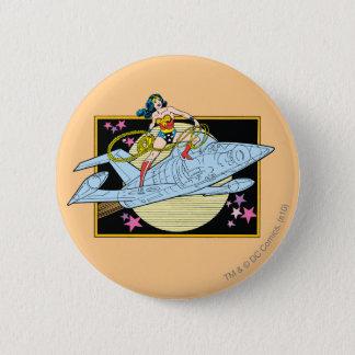 Wonder Woman with Jet 6 Cm Round Badge