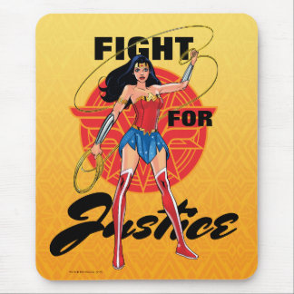 Wonder Woman With Lasso - Fight For Justice Mouse Mat
