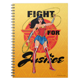 Wonder Woman With Lasso - Fight For Justice Notebook