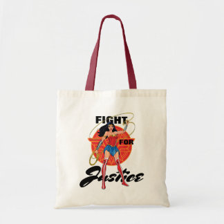 Wonder Woman With Lasso - Fight For Justice Tote Bag