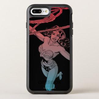 Wonder Woman With Lasso Red Blue Gradient Line Art OtterBox Symmetry iPhone 8 Plus/7 Plus Case