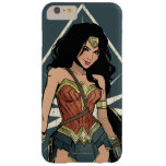 Wonder Woman With Sword Comic Art Barely There iPhone 6 Plus Case