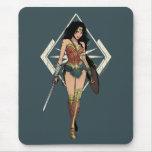 Wonder Woman With Sword Comic Art Mouse Mat