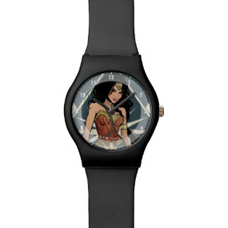 Wonder Woman With Sword Comic Art Watch