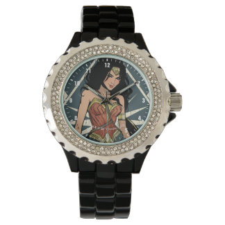 Wonder Woman With Sword Comic Art Wristwatch