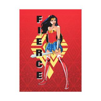Wonder Woman With Sword - Fierce Canvas Print