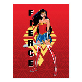 Wonder Woman With Sword - Fierce Postcard