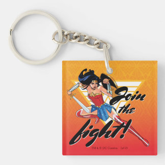 Wonder Woman With Sword - Join The Fight Key Ring