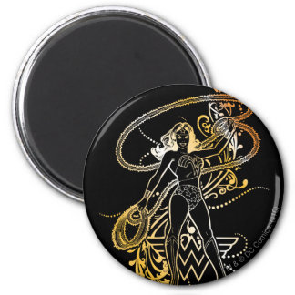 Wonder Woman Yellow Fade 6 Cm Round Magnet