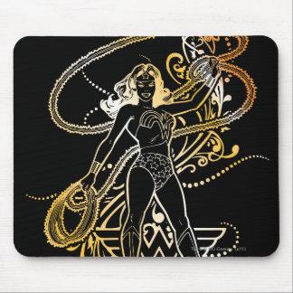 Wonder Woman Yellow Fade Mouse Pad