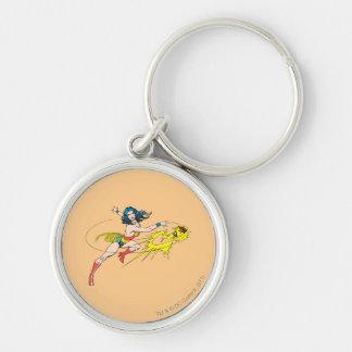 Wonder WomanThrows Crown Key Ring
