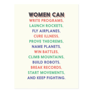 "Wonder Women ""Women Can…"" Litany Postcard"