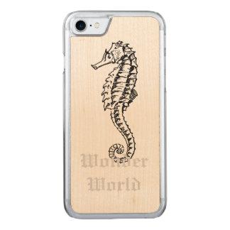 """Wonder World"" - Seahorse Carved iPhone 7 Case"