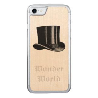 """Wonder World"" - Top Hat Carved iPhone 7 Case"
