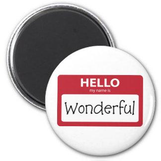 wonderful 001 6 cm round magnet
