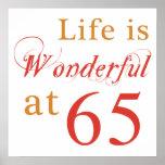 Wonderful 65th Birthday Gifts Poster