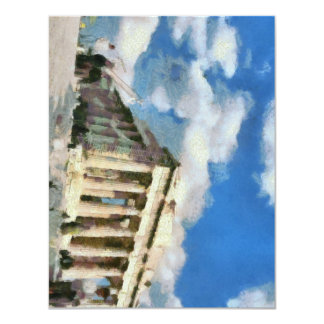 Wonderful Acropolis in Athens 11 Cm X 14 Cm Invitation Card