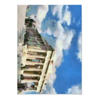 Wonderful Acropolis in Athens 11 Cm X 16 Cm Invitation Card