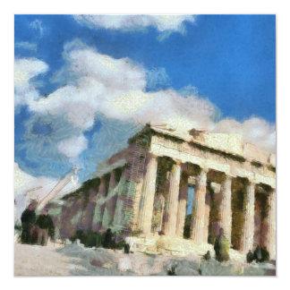 Wonderful Acropolis in Athens 13 Cm X 13 Cm Square Invitation Card