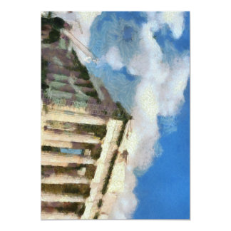 Wonderful Acropolis in Athens 13 Cm X 18 Cm Invitation Card