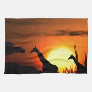 Wonderful African Sunset Tea Towel