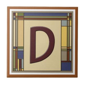 Wonderful Arts & Crafts Geometric Initial D Tile