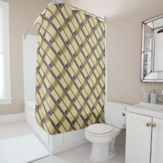 Wonderful Arts & Crafts Geometric Patterns in Fall Shower Curtain