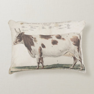 Wonderful & beautiful vintage cow pillow. decorative cushion