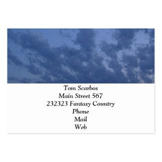 Wonderful blue evening sky business card template