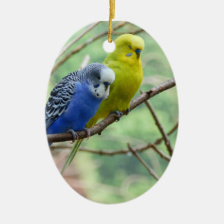 Wonderful Budgie Christmas Ornament