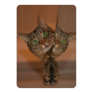 Wonderful Cat 13 Cm X 18 Cm Invitation Card