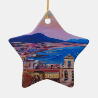 Wonderful City View of Naples with Mount Vesuv Christmas Ornament