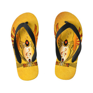 Wonderful clef flip flops