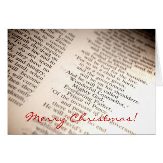 Wonderful Counsellor, Mighty God [Christmas Card] Card