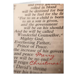 Wonderful Counsellor, Mighty God v.2 [Christmas Ca Greeting Card