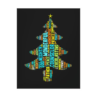 Wonderful Counselor Mighty God Prince of Peace Gallery Wrapped Canvas