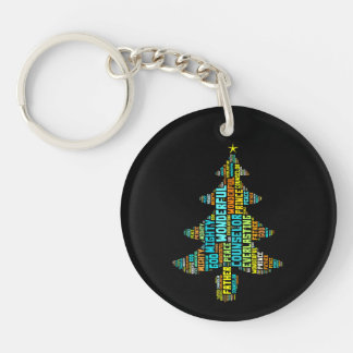 Wonderful Counselor Mighty God Prince of Peace Double-Sided Round Acrylic Key Ring