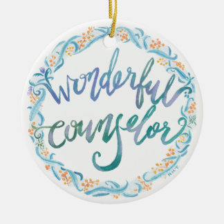 """Wonderful Counselor""watercolor Ornament"