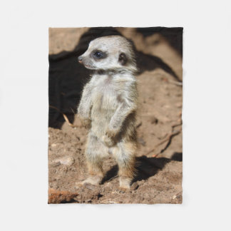 Wonderful Cute Sweet African Meerkat Animal Fleece Blanket