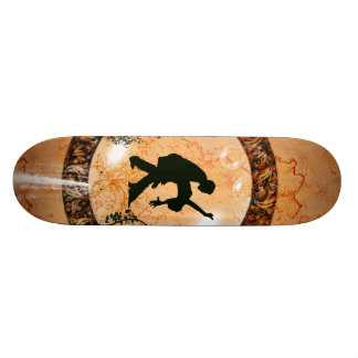 Wonderful dancing couple in a bubble with flowers 21.6 cm skateboard deck